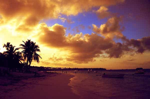 Dominican Republic- beach at sunset